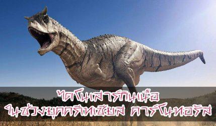 ไดโนเสาร์ กินเนื้อในช่วงยุคครีเทเชียส คาร์โนทอรัส