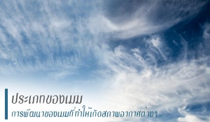 ประเภทของเมฆ การพัฒนาของเมฆที่ทำให้เกิดสภาพอากาศต่างๆ