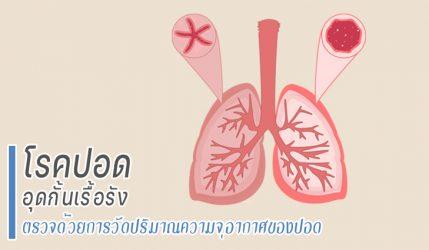 โรคปอดอุดกั้นเรื้อรัง ตรวจด้วยการวัดปริมาณความจุอากาศของปอด